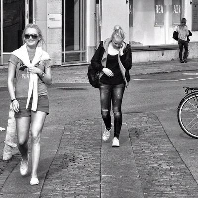 Summer's ended. Sub-zero temperatures forecast for the whole of this week in Gothenburg :/ Hot Gothenburg Streetphotography Monochrome People Bw Summer Sweden Candid Goteborg Blackandwhite Bnw Portrait Bn Smile Monochromatic Girl Sverige Sunglasses Ig_sweden Streetphoto Igersgothenburg Blonde Smiling Shades Woman