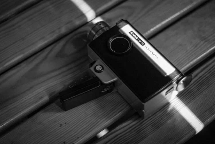 Kodak instamatic m28 b&w Kodak Sun Stripes Black&white 70s Retro Camera EyeEm Selects Indoors  Technology No People Close-up Still Life High Angle View Table Retro Styled Single Object Metal Photography Themes Wood - Material Equipment