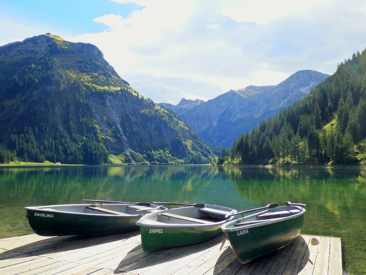 Vilsalpsee Allgäu Allgäuer Alpen Allgäuer Landschaft Mountain Water Scenics Lake Nature Landscape