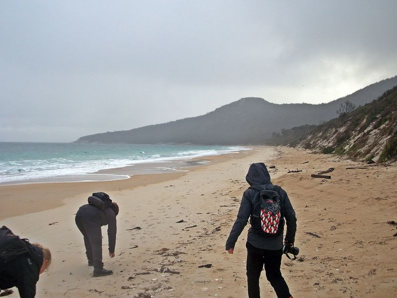 Freycinet NP, Coles Bay Adult Beach Beauty In Nature Cloud - Sky Day Freycinet National Park Horizon Over Water Leisure Activity Lifestyles Men Mountain Nature One Person Outdoors People Real People Sand Scenics Sea Sky Standing Tasmania Warm Clothing