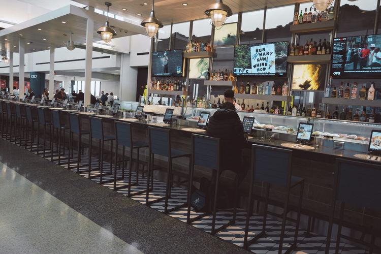 Man sitting in restaurant