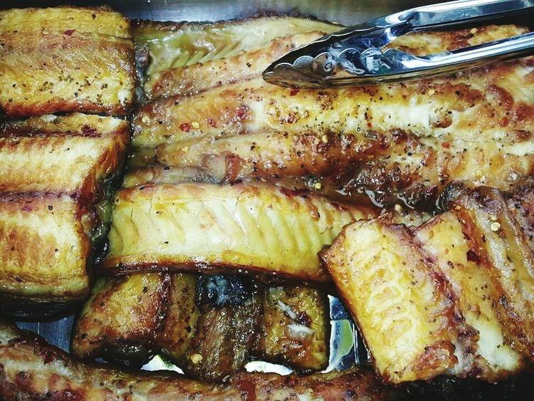 Home caught & smoked eel..yum!