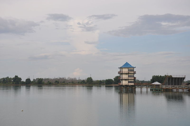 Jakabaring Building Exterior Built Structure Water Outdoors Sky Architecture Tranquility Lake No People Day Beach Tree Politics And Government INDONESIA Palembang