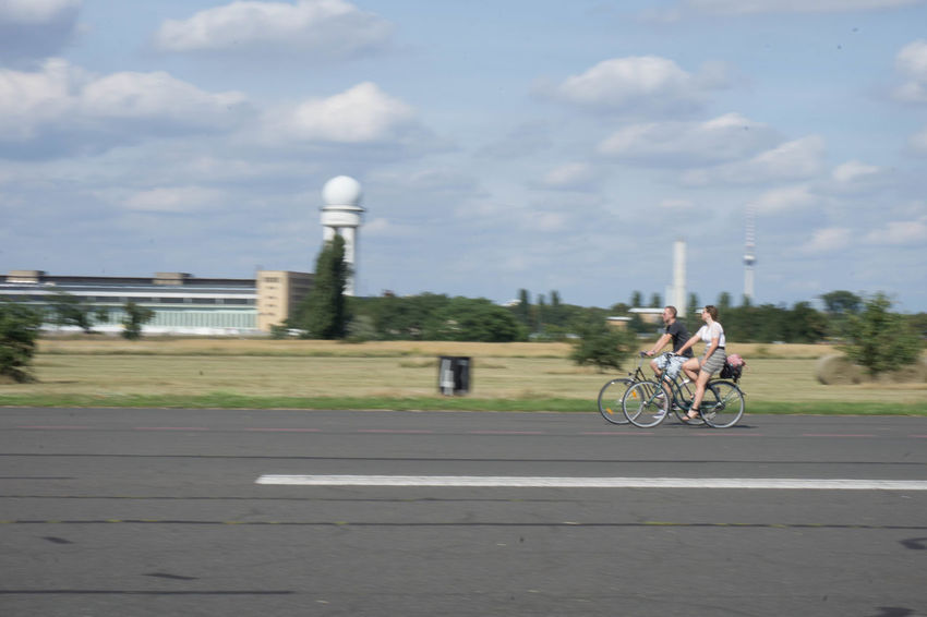 Activity Berlin Tempelhof Bicycle Built Structure Cloud - Sky Cycling Outdoors People Real People Sky Your Ticket To Europe Discover Berlin