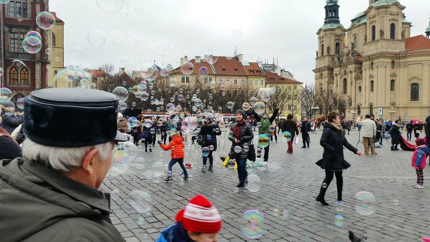 Large Group Of People People Architecture Built Structure bubbles Building Exterior Headwear Day Outdoors Crowd Sky Shades Of Winter