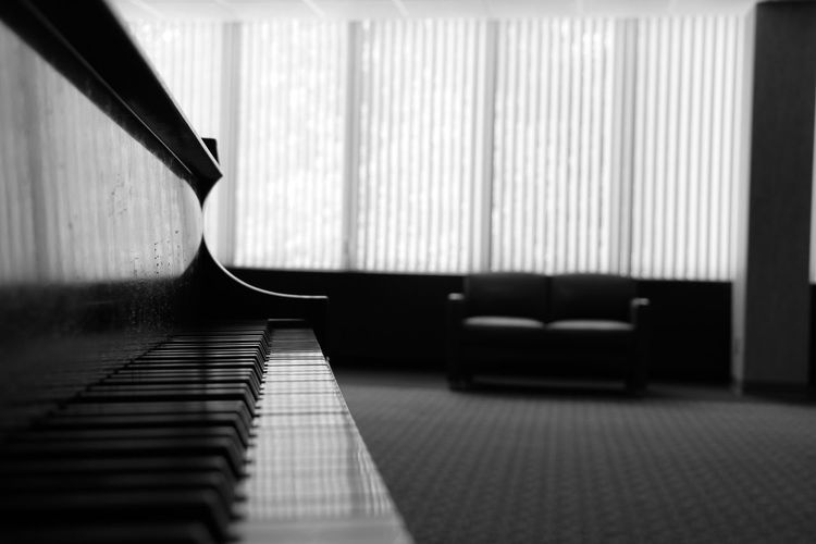 Grand piano at home