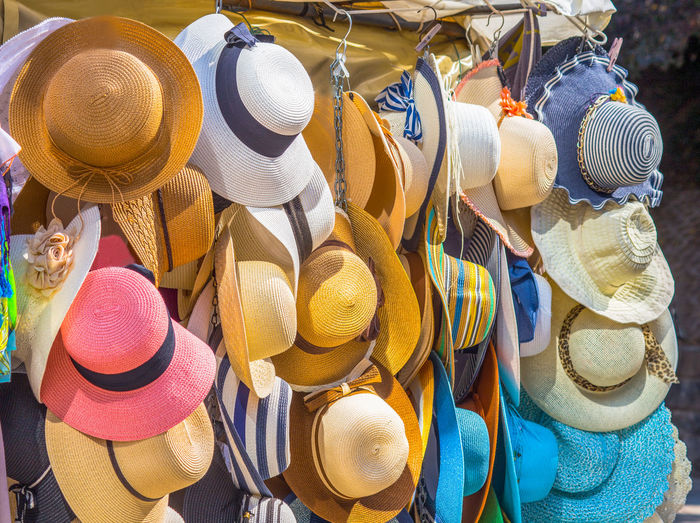 High angle view of various displayed for sale at market stall
