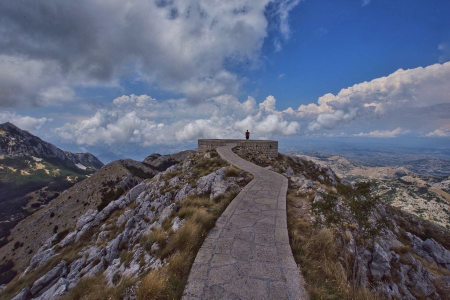 Montenegro view Cloud - Sky Sky Nature Mountain Day History Outdoors Built Structure Scenics Beauty In Nature Montenegro Single Figure Paved Path Architecture Be. Ready.