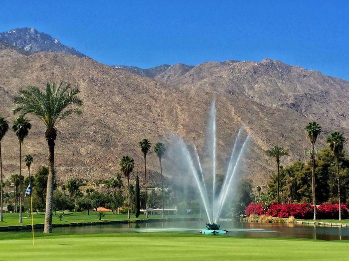 Walt Disney Fountain Palm Springs CA. Indian Springs Golf Club Disney Desert Beauty Desert Desert Oasis IPhoneography