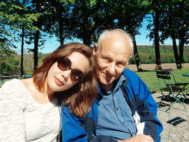 Susannah and grandpa at cafe Casual Clothing Day Emotions Enjoyment Family Front View Granddaughter Grandpa Happiness Headshot Leisure Activity Lifestyles Outdoors Person Portrait Smiling Sunglasses Sunlight Together Toothy Smile Tree Young Adult Everyday Emotion Happy Happy People EyeEm Diversity