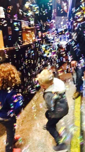 """""""L'enfance trouve son paradis dans l'instant. Elle ne demande pas du bonheurs. Elle est le bonheur."""" Louis Pauwels Kids Children Playing Bullesdesavon Showing Imperfection Cute Up Close Street Photography"""