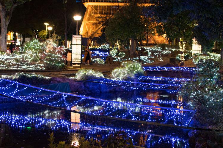 #Night #illumination #japan #light #nightview Christmas Decoration Christmas Lights Illuminated