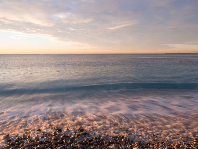 Beach Beauty In Nature Calm Cloud Cloud - Sky Côte D'Azur France Horizon Over Water Idyllic Majestic Nature Non-urban Scene Outdoors Remote Scenics Sea Seascape Shore Sky Summer Sunset Tranquil Scene Tranquility Vacations Water