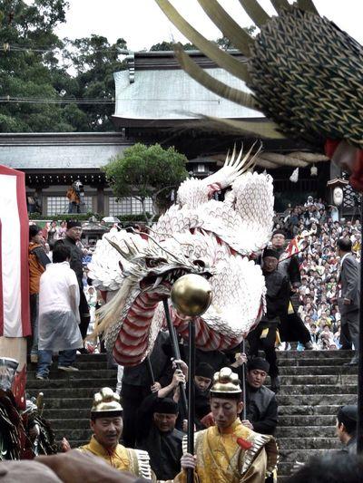 2 Dragons get down from Stairs : Nagasaki Kunchi Festival 2009 Serise 和華蘭(Nagasaki Culture) Variable Angle
