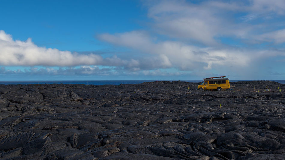 This land, is my land. Until Pele takes it back again... 16x9 Barren Big Island Dramatic Sky Frontier Full Frame Hawaii Kilauea Landscape Lava Of The Grid Pacific Sky Travel USA Volcano Volcanoes The Drive