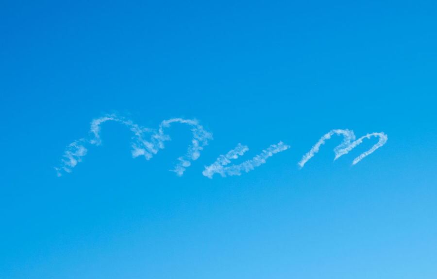 Mum Skywriting Blue Sky Clear Sky Blue Writing Mum Thoughtful Mothers Day