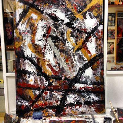 Ruptura de color (paleta y brocha) Art Arte Negua