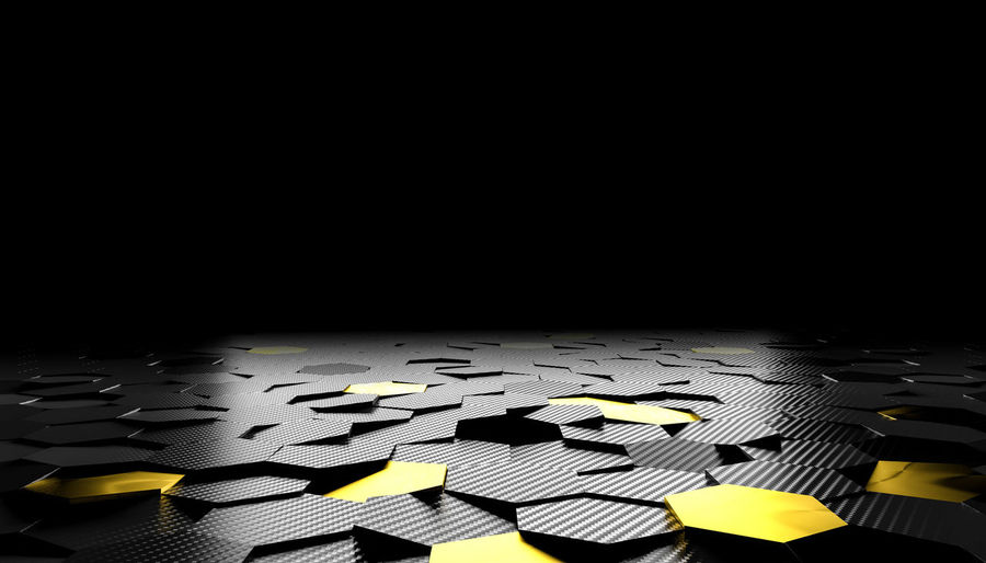 Carbon-fiber Carbon Black Background Technology Hexagon Dark Texture Fiber Pattern Abstract Industrial Grill Honeycomb Textured  Design Material Wallpaper Modern Graphic Hexagonal Nobody Horizontal Textured Background Gold Golden