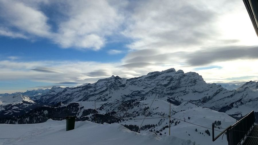View from the Grand Chamossaire this morning... Surlespistes Peace And Quiet Clouds And Sky Morning View Mountains Villars Enjoying The View ILike This :)