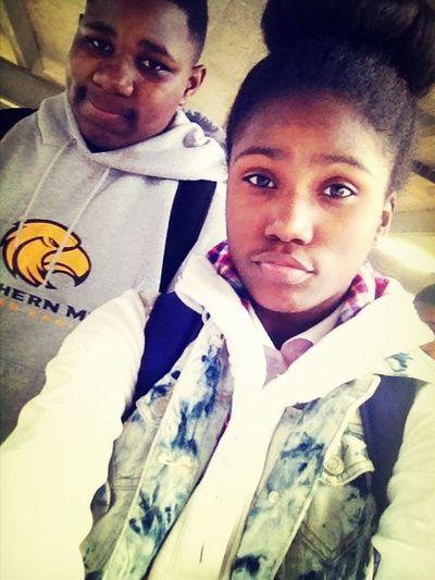 Me and Bri thuging leavin school