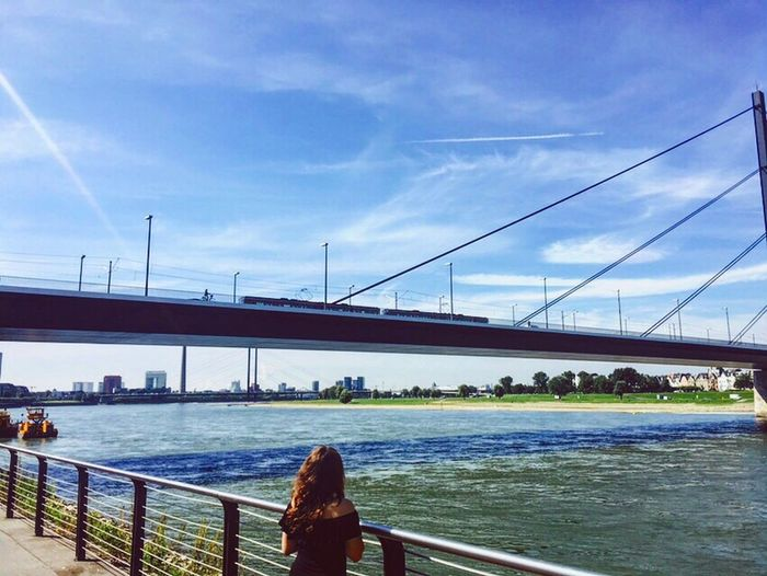 The world is a book and those who do not travel read only one page. Düsseldorf River Travel Bestmoment Summer Germany Bridge Rhine