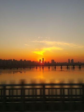 Sunset Tranquil Scene Urban Skyline No People Capture The Moment Yellowandblue Korea EyeEmBestPics Nofliter