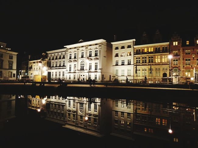 Reflection Night History Illuminated Travel Destinations No People Architecture Building Exterior Outdoors Water City Cityscape Politics And Government Black Background Sky Ghent Belgium Flamand Architecture Water Reflections Vacations Ghent Canal Ghent,Belgium Cityscape Reflection Water Reflection