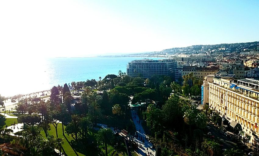 From The Rooftop Sky French Riviera Blue Sunshine Mediterranean  Beach Sun Garden France