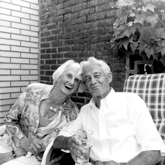 The elderly joys of Life . Grandparents Senior Dutch Tholenski family.