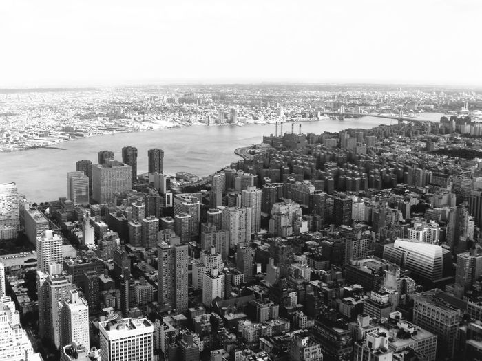 Aerial View Architecture Black And White Blackandwhite Building Exterior City Cityscape Day District Downtown District Empire State Building Flying High Harbor High Angle View Modern New York No People Outdoors Overview Sea Skyscraper Travel Destinations Urban Landscape Urban Skyline Water