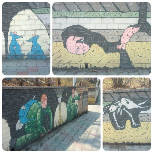 Street Art Wall Collage