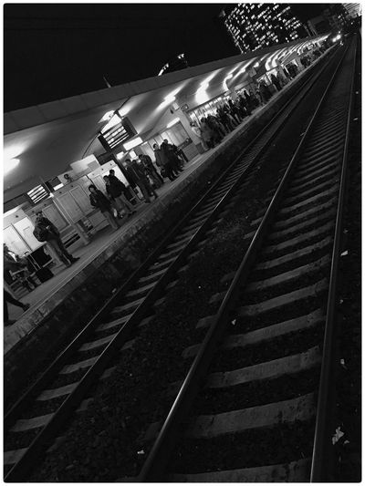 Railstation Station Train Station IPhoneography Check This Out Light Black & White EyeEmBestPics Eye4photography  Darkness And Light Black&white Belgium RM People Brussels NMBS