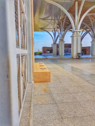 somewhere there Mosque Putrajaya Modern Architecture Interior Design Decor Decoration Building Style Outdoor Architecture Arch Day Built Structure Architectural Column No People Indoors  Sky