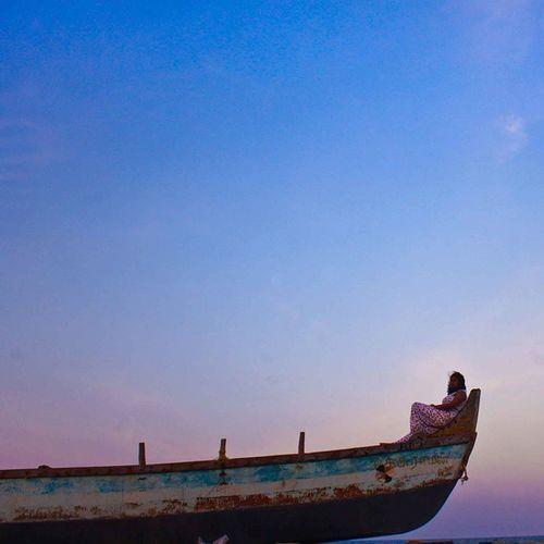 :: Summer Dreams :: Chennai Marina Tamilnadu Boat Sky Blue Sand Sea Love Alone Peace Love Fish Horizon Sun Jumpsuit Fashion Vogue