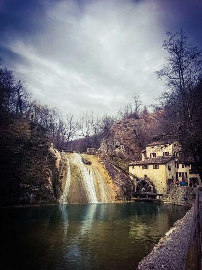 Landscape Refrontolo Water Fall Italy Veneto