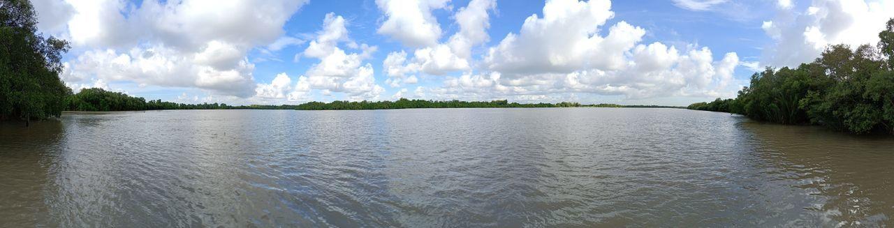 Bangpakong River Tree Water Panoramic Sky Cloud - Sky