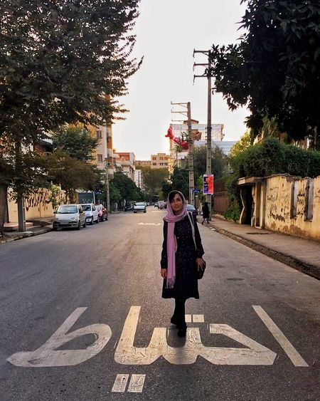 Full Length One Person Street Tree Outdoors Front View Road Looking At Camera Adult Transportation People Day Childhood Portrait Child Smiling City One Woman Only Only Women Sky