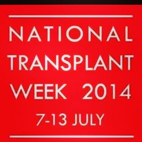 This week is national transplant week Organtransplants Organdonars Secondchanceatlife