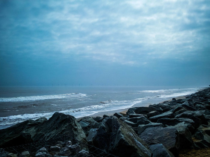 Beach Photography Beach Beauty In Nature Cloud - Sky Coastal Defences Day Horizon Horizon Over Water Land Landscape Motion Nature No People Outdoors Power In Nature Rock Rock - Object Rocky Coastline Scenics - Nature Sea Sky Solid Tranquil Scene Tranquility Water