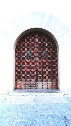 Door Sitges Church Ancient Antic Wood Door