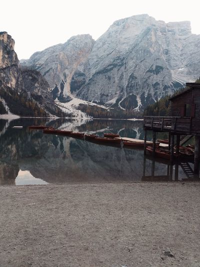 Lagodibraies Italy Boats House Woodhouse Wooden Wallpaper Environment Nature Forest Rock Autumn Freshness Naturelovers Travel Landscape Lake View Environmental Conservation Water Mountain Snow Lake Cold Temperature Winter Sky Mountain Range Snowcapped Mountain Idyllic Scenic View Lakeside