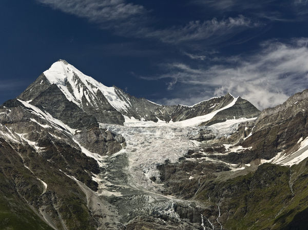 Glacier - melting glacier during summer at near Randa, Switzerland Hicking Ice Scenic Snow ❄ Switzerland Alps Beauty In Nature Blue Sky Cold Temperature Day Environment Glacier Landscape Mountain Mountain Range Outdoors Rock Snow Snowcapped Mountain Summer