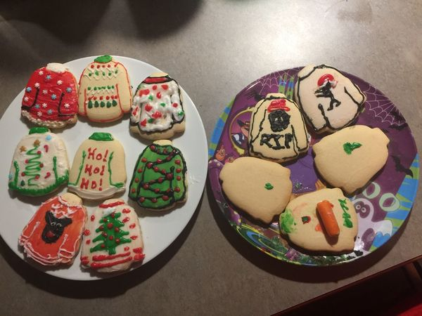 High Angle View Food And Drink No People Indoors  Sweet Food Close-up Ready-to-eat Cookies Uglychristmassweater MerryChristmas Holiday