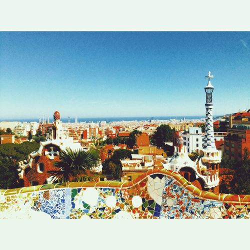 Parkguell Barcelona Gaudi Art Mosaic Hello World Enjoying Life Check This Out Travel City