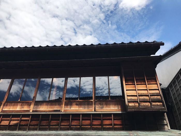 Building Exterior Japan Photography House Low Angle View Architecture Cloud - Sky Window Sky Streetphotography History Clouds And Sky Travel Photography