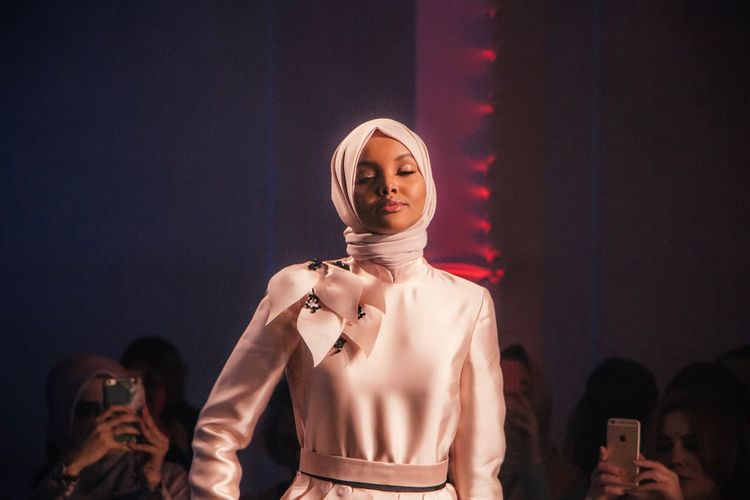 Celebrity Model Halima Aden at London Muslim Fashion Show Fashion Young Adult Fashion Show London Cat Walk Fashion Model Fashion Photography Only Women London Olympia Celebrity One Person Halima Aden Canonphotography