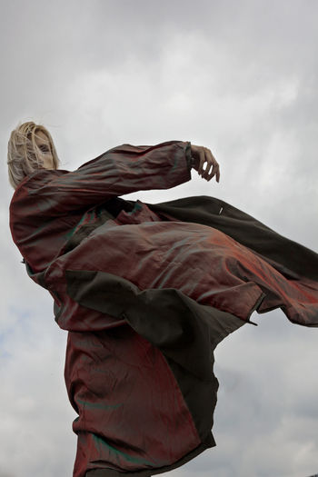 Angel Outdoors Day Nature Wind The Past Male Likeness Representation Creativity Statue Sculpture Human Representation Art And Craft Low Angle View Cloud - Sky Sky The Creative - 2019 EyeEm Awards
