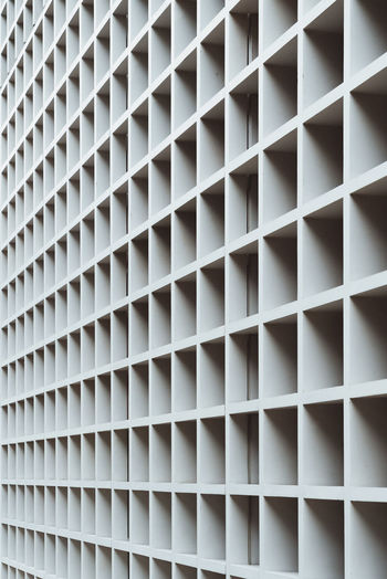 Photos from Taiwan-Trip 2017 Abundance Architecture Backgrounds Built Structure Close-up Design Full Frame Geometric Shape In A Row Indoors  Large Group Of Objects No People Pattern Repetition Shape White Color