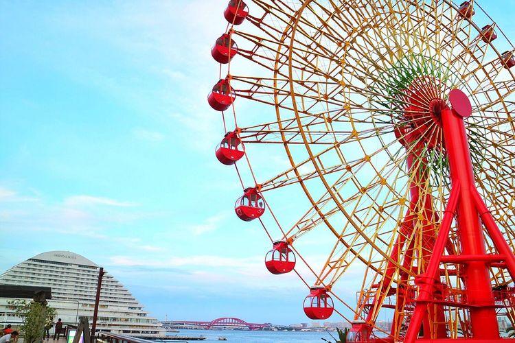 Amusement Park Ferris Wheel Arts Culture And Entertainment Amusement Park Ride Low Angle View Sky Built Structure Red Day Outdoors Travel Destinations Big Wheel No People Architecture Nature