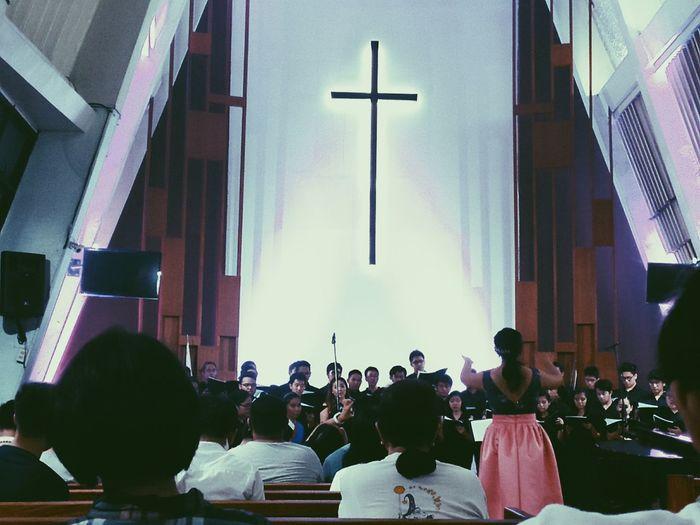 Choir  Recital Conducting Church Mobilephotography